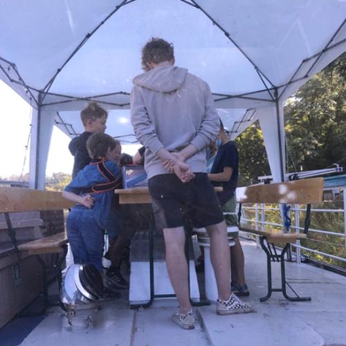 Exkursion einer Lerngruppe des Riesenklein Halle